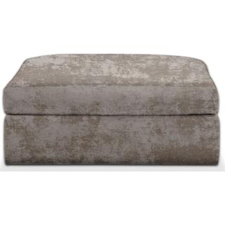 Collin Cumulus Ottoman - Hearth Cement