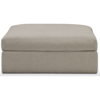 Collin Comfort Performance Ottoman - Benavento Dove