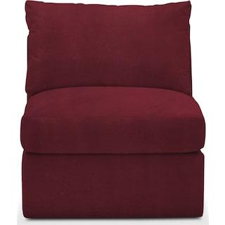 Collin Cumulus Armless Chair - Modern Velvet Wine