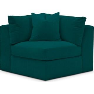 Collin Comfort Corner Chair - Toscana Peacock