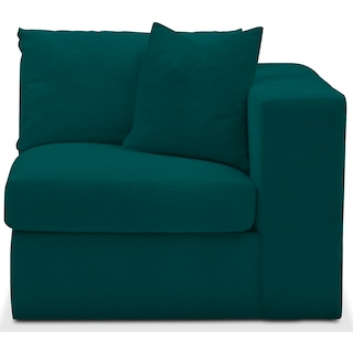 Collin Comfort Right-Facing Chair - Toscana Peacock