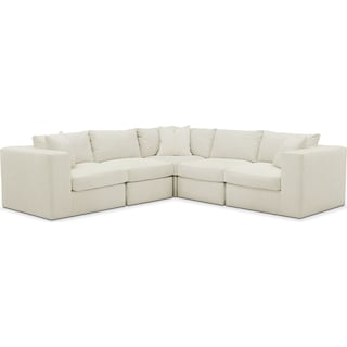 Collin Comfort 5-Piece Sectional - Anders Ivory