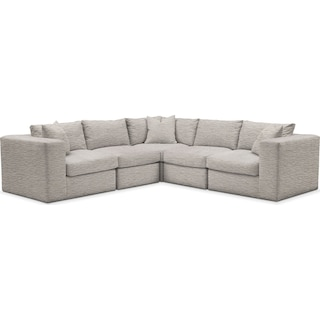 Collin Cumulus 5-Piece Sectional - Living Large White