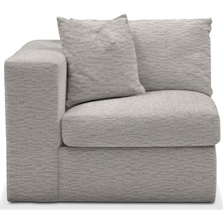 Collin Cumulus Left-Facing Chair - Living Large White