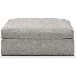 Collin Comfort Ottoman - Living Large White