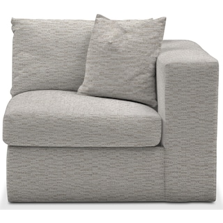 Collin Comfort Right-Facing Chair - Living Large White