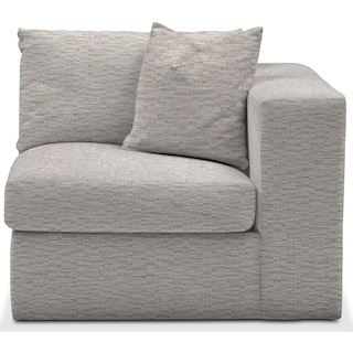 Collin Cumulus Right-Facing Chair - Living Large White