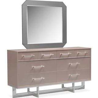 Concerto Dresser and Mirror - Champagne