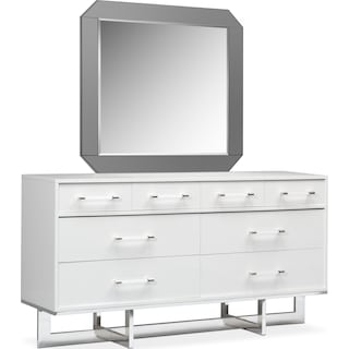 Concerto Dresser and Mirror - White
