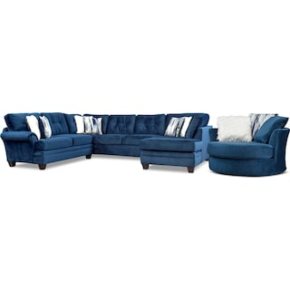 Cordelle 3-Piece Sectional and Swivel Chair Set