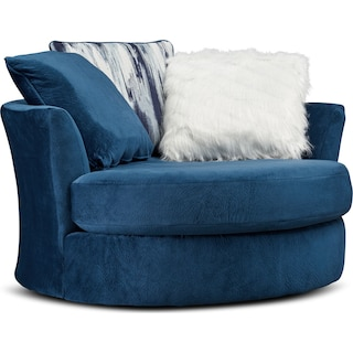 Cordelle Swivel Chair - Blue