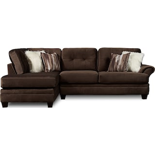 Cordelle 2-Piece Sectional with Left-Facing Chaise - Chocolate