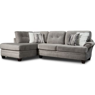 Cordelle 2-Piece Sectional with Left-Facing Chaise - Gray