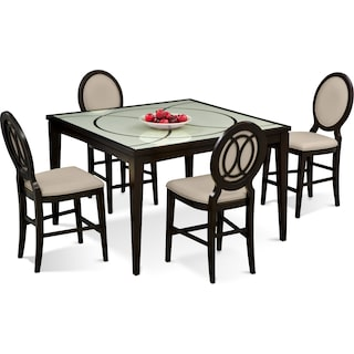 Cosmo Counter-Height Dining Table and 4 Dining Chairs