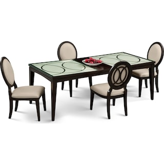 Cosmo Dining Table and 4 Dining Chairs