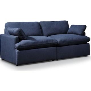 Cozy 2-Piece Power Reclining Sofa - Navy