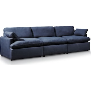 Cozy 3-Piece Power Reclining Sofa - Navy