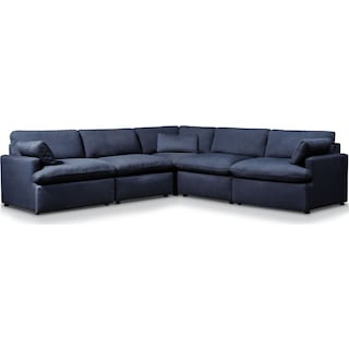 Cozy 5-Piece Sectional - Navy