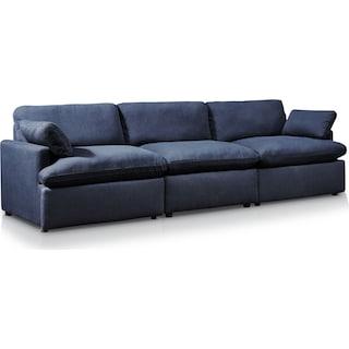 Cozy 3-Piece Sofa - Navy