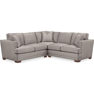 Arden Comfort 2-Piece Small Sectional with Left-Facing Loveseat - Curious Silver Pine