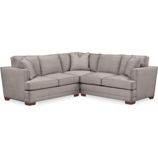 Arden Cumulus 2-Piece Small Sectional with Left-Facing Loveseat - Curious Silver Pine