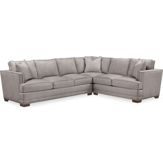 Arden Comfort 2-Piece Large Sectional with Left-Facing Sofa - Curious Silver Pine