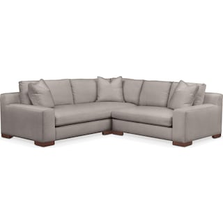 Ethan Cumulus 2-Piece Small Sectional with Right-Facing Loveseat - Curious Silver Pine