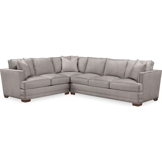 Arden Comfort 2-Piece Large Sectional with Right-Facing Sofa - Curious Silver Pine