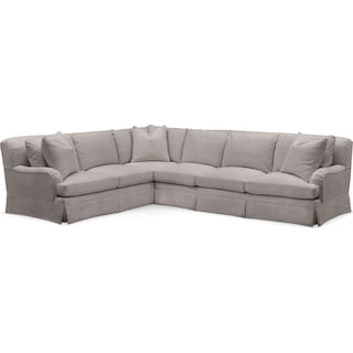 Campbell Cumulus 2-Piece Large Sectional with Right-Facing Sofa - Curious Silver Pine