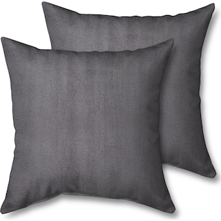 2-Pack Custom Pillows - Living Large Charcoal