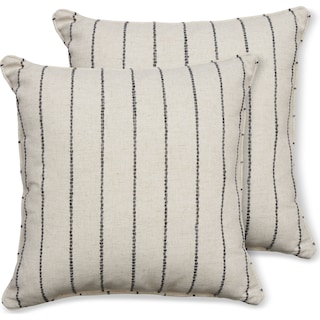 2-Pack Custom Pillows -  Evie Charcoal