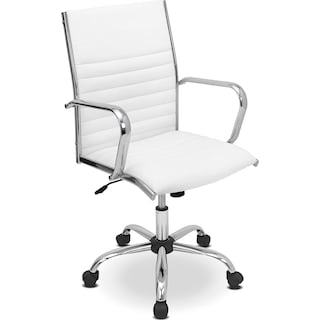 Director Office Arm Chair - White