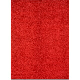 Domino Shag 5' x 8' Area Rug - Red