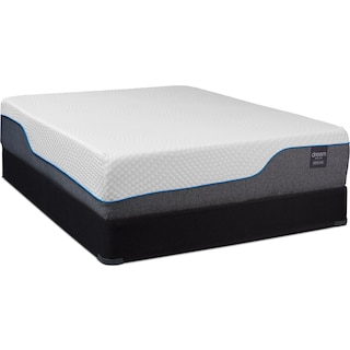 Dream Relax Medium Full Mattress and Low-Profile Foundation