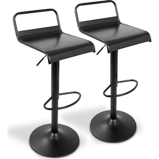 Duran Set of 2 Adjustable Swivel Bar Stools