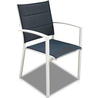 Edgewater Set of 6 Outdoor Chairs - Navy