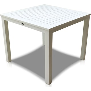 Edgewater Outdoor Square Dining Table - White