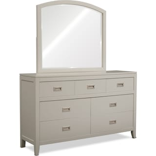 Emerson Dresser and Mirror - Gray