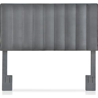 Esme King Upholstered Headboard - Charcoal Gray