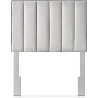 Esme Twin Upholstered Headboard - Light Gray