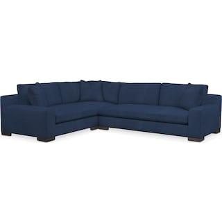 Ethan Comfort 2-Piece Large Sectional with Right-Facing Sofa - Toscana Navy