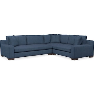 Ethan Comfort Performance 2-Piece Large Sectional with Left-Facing Sofa - Peyton Navy