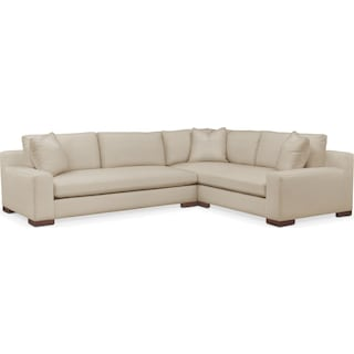 Ethan Comfort 2-Piece Large Sectional with Left-Facing Sofa - Depalma Taupe