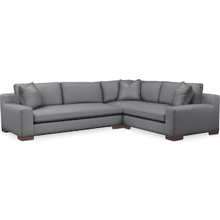 Ethan Comfort 2-Piece Large Sectional with Left-Facing Sofa - Depalma Charcoal