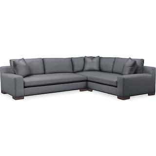 Ethan Comfort 2-Piece Large Sectional with Left-Facing Sofa - Millford II Charcoal