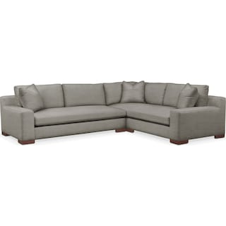 Ethan Comfort 2-Piece Large Sectional with Left-Facing Sofa - Victory Smoke