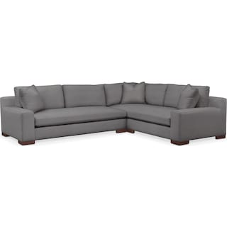 Ethan Comfort 2-Piece Large Sectional with Left-Facing Sofa - Hugo Graphite