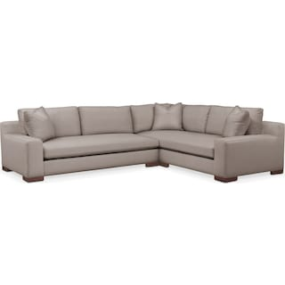 Ethan Comfort 2-Piece Large Sectional with Left-Facing Sofa - Abington TW Fog