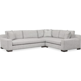Ethan Comfort 2-Piece Large Sectional with Left-Facing Sofa - Everton Gray