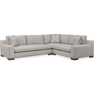 Ethan Cumulus 2-Piece Large Sectional with Left-Facing Sofa - Dudley Gray